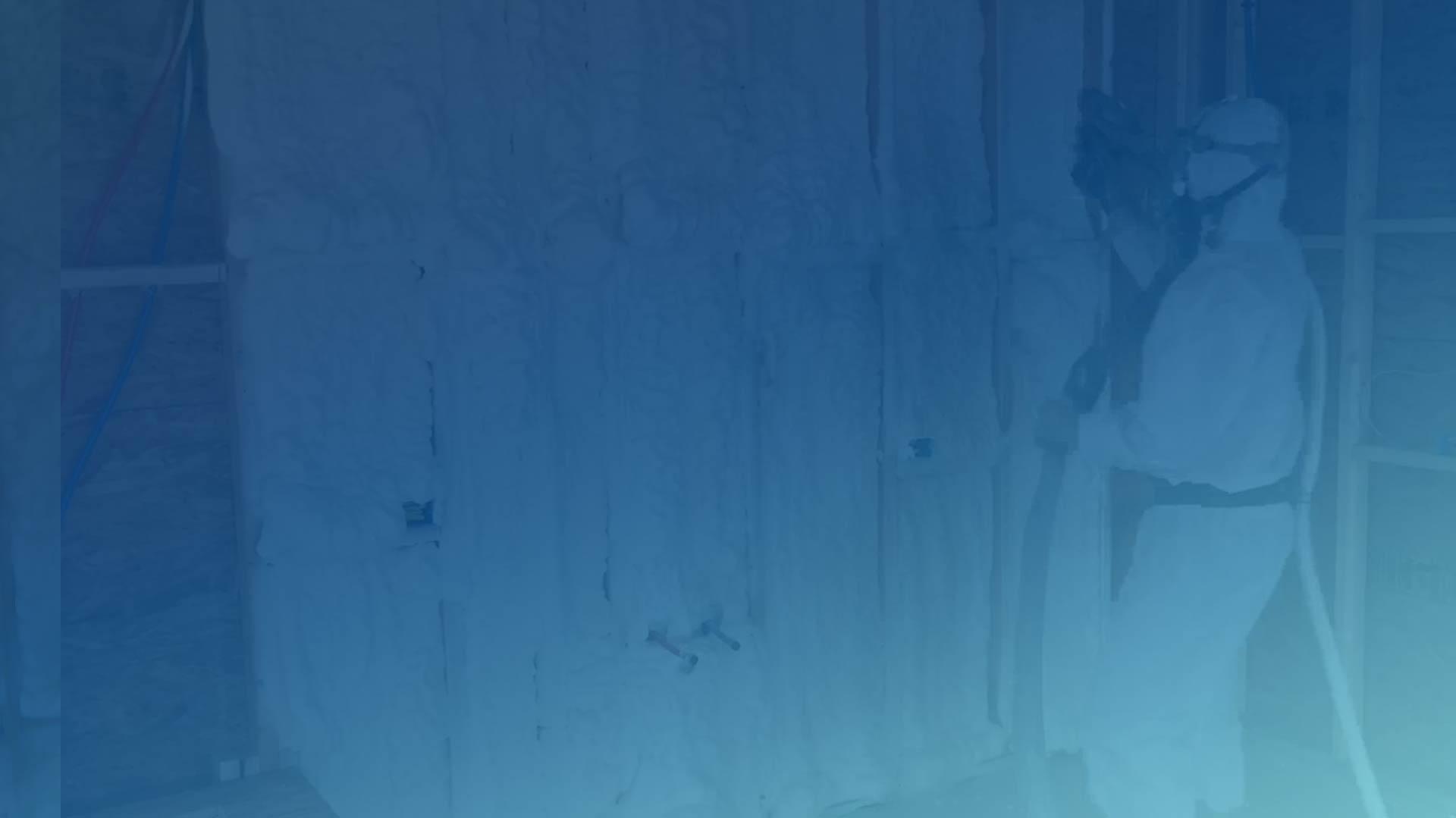 Home slider spray foam bg